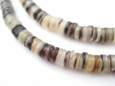 Brown Natural Shell Heishi Beads (5mm)