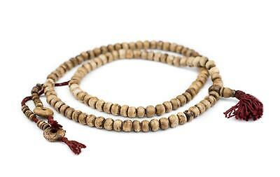 Rustic Brown Round Bone Beads 8mm Nepal Large Hole 29 Inch Strand