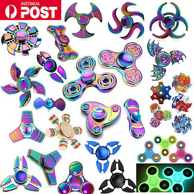 Gyro Rainbow Fidget Hand Spinner EDC Stress Relief Focus Toys for Kids Adults
