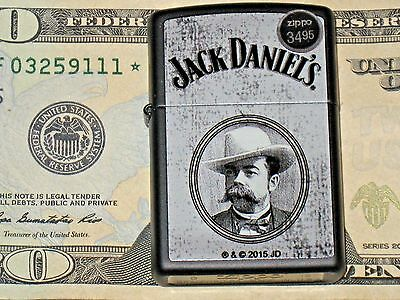New USA ZIPPO Lighter Mr JACK Daniel's Picture Tennessee Whiskey JD Old No 7
