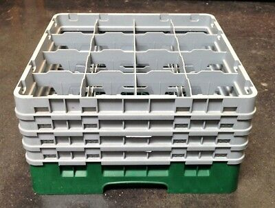 Cambro 16 Compartment Camrack W/ 4 Extenders LOT OF 3