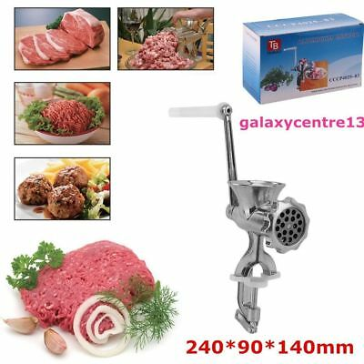 Manual Hand Operated Meat Grinder Kitchen Heavy Duty Mincer Mince Clamp Beef