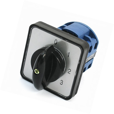 uxcell® 5-Position Universal Rotary Cam Changeover Switch CA10 50x50x10mm