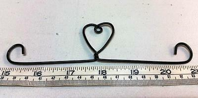 "6"" Or 15Cm Black Single Heart Tab Top Mini Quilt/wallhanging Hanger"