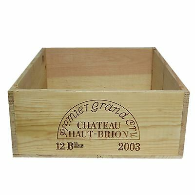 2003 Chateau Haut-Brion First Growth Wooden Wine Crate without Lid