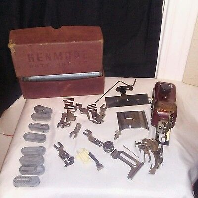 Vintage Kenmore Buttonholer and Misc. Machine Attachments