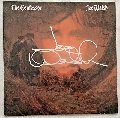 "Autographed Joe Walsh ""The Confessor"" Vinyl + ""Rick the Bass Player"" (R.I.P.)"