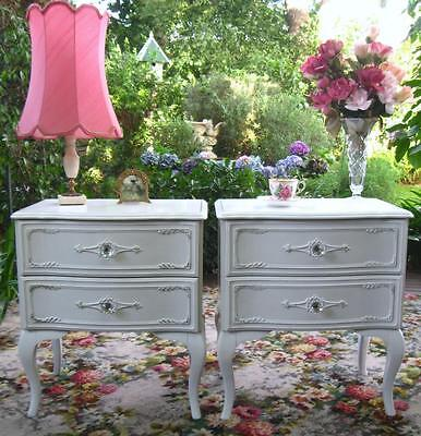 Stunning French Provincial Vintage Queen Anne Bedside Tables C Dressing Table