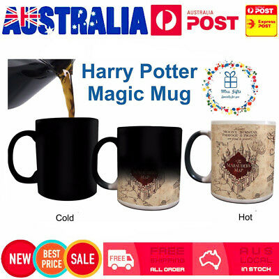 HOT! For Harry Potter Color Changing Mug For Marauders Map Ceramic Coffee Cup DZ
