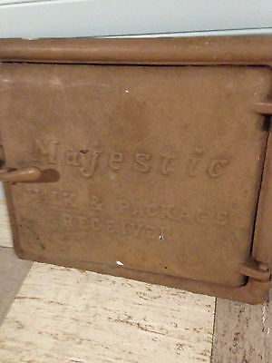 Antique Majestic Co Milk & Package Receiver Door architectural cast iron 1926