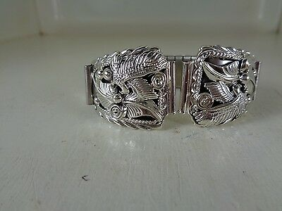Eagle Watch Tips .925 Sterling Silver Signed By Running Bear - Navajo No Stone