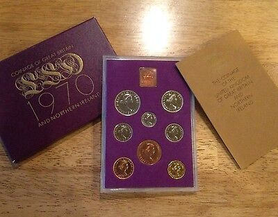 1970 Coinage of United Kingdom and Northern Ireland Proof Set 8 coin Set