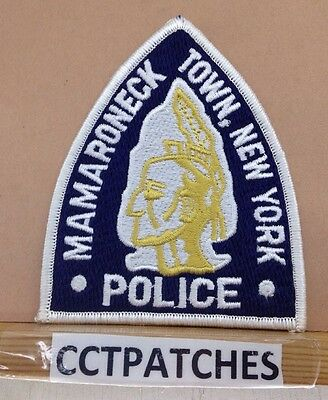 Mamaroneck Town, New York  Police (Indian) Shoulder Patch Ny