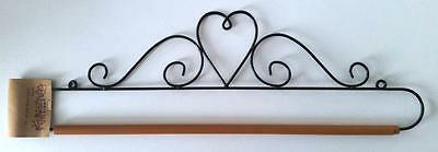 "26"" Or 66Cm Black Metal Single Heart Dowel Rod  Quilt Hanger"