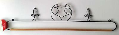 "26"" Or 66Cm Black Metal Owl Design Dowel Rod  Quilt Hanger"