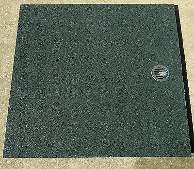 rubber shower mat with matching ramp