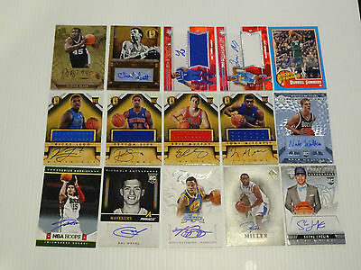 Panini NBA Basketball Trading Cards Lot of 15 Auto cards