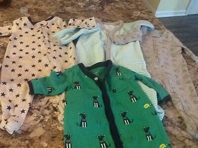 lot of 4 baby boy gap sleepers size 0-3 months