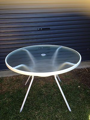 White Outdoor Table-as New