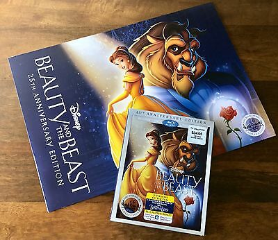Beauty And The Beast 25th Anniversary DVD/set Of 4 Lithographs NEW