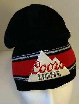 Coors Light Beer Mountain Beanie Style Toque Hat Reversible