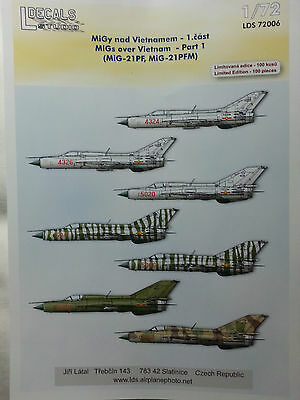 DECAL sheet for MIG-21 over Vietnam part 1 by LDS in 1/72 scale 72006