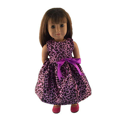 2017 giftperrty fashion clothes dress for 18inch American girl doll party b334