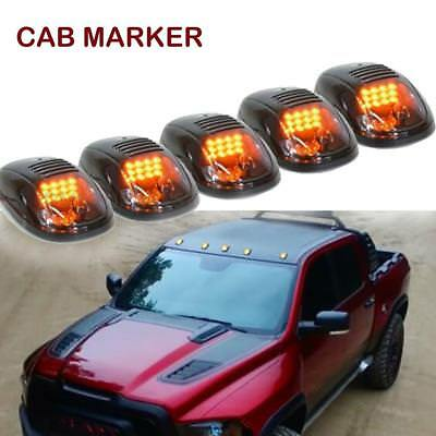5x 264146BK Smoked Cab Roof Marker Lights Amber for Dodge Ram 2500/3500/4500