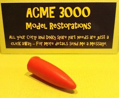 Corgi 1108 1109 Bloodhound Guided Missile Reproduction Red Soft Rubber Nose Cone