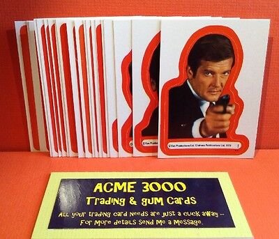 Topps 1979 - James Bond Moonraker Complete Set Of 22 Stickers