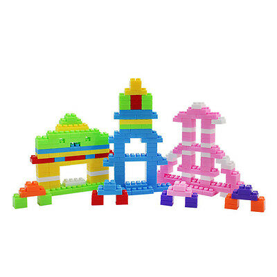 Pop 144PCS Plastic Puzzle Building Blocks Bricks Children Kids Education Toy