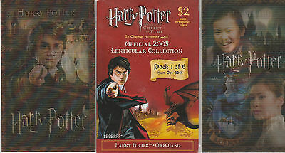 Harry Potter Official 2005 Lenticular Collection Pack 1 Daniel Radcliffe Cho