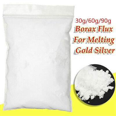 30~90g Borax Powder Anhydrous Metal Casting Melting Flux Gold Assay Forging Flux
