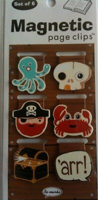 Pirate Mini Photo Magnetic Page Clips Set of 6 by Re-marks