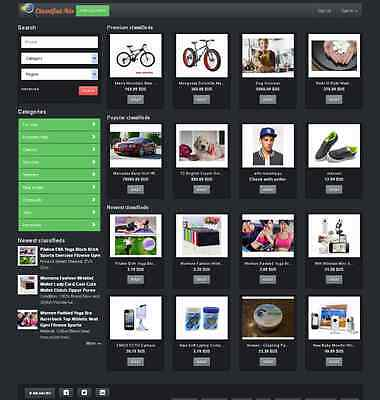Local Classified Website Black Theme- Free Install