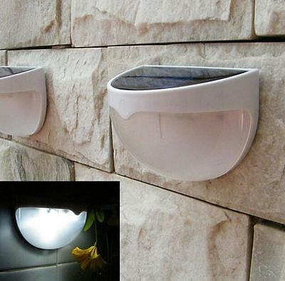 6 LED Solar Powered Door Fence Lamp Wall Lights Outdoor Garden Shed Lighting