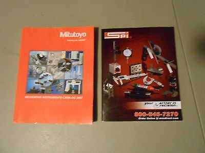 Lot Of 2 Mitutoyo Measuring Instruments,spi Istruments Caralogs,micrometers,rule