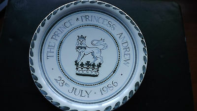 1986 Rye Pottery Plate Wedding of Prince and Princess Andrew RARE TITLE