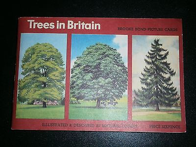 Brooke Bond PG Tips TREES in BRITAIN Late 1960s - ALBUM and FULL SET of CARDS