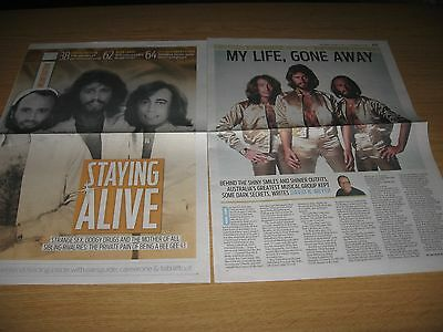 BEE GEES - Newspaper Clipping- ROBIN GIBB BARRY GIBB MAURICE GIBB