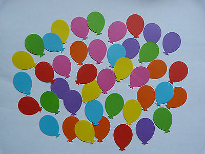 """100 x  1"""" assorted  80 gsm paper baloon shapes scrapbooking cardmaking craft"""