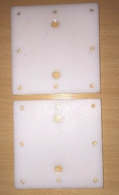 Pair Of End Plates For HHO Dry Cell Generator 10mm X 130mm X 130mm