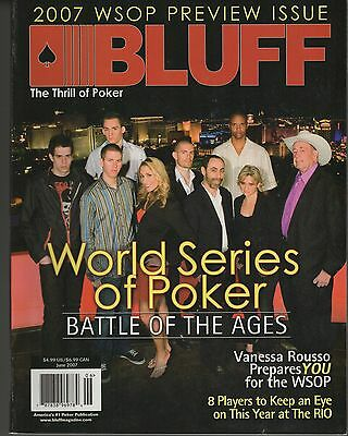 2007 World Series Of Poker Las Vegas What's On Bluff Magazine