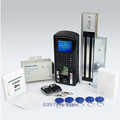 Fingerprint And RFID Card Access Control System+ 2Remote Controls+ Magnetic Lock