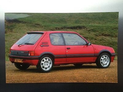 Peugeot 205 GTI 1.9 Press Photograph  -  Large print - Poster