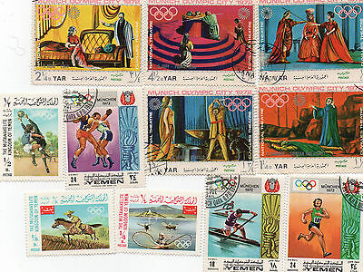 Set of 11 Stamps from Yemen