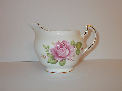 Royal Vale Bone China Milk Cream Jug Creamer Pink Rose Floral Design Lovely