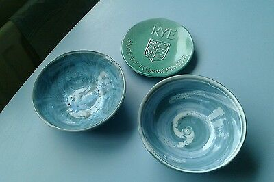 David Sharp Rye Pottery Signed Bowl,unsigned Bowl & Cinque Ports Saucer.