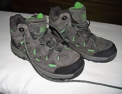 Pair of Boy's / Girls's Karrimor Grey Green Trainers Size UK 1
