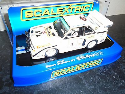 Scalextric C3487 Audi Sport Quattro S1 1985 RALLY ULSTER lights &  DPR m/b